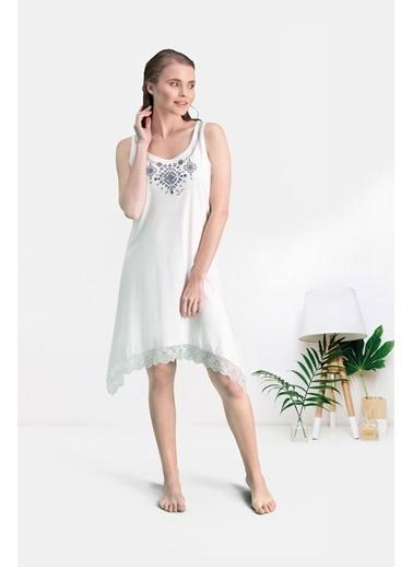 Pierre Cardin Pierre Cardin Lacivert Kadın Gündelik Elbise Krem